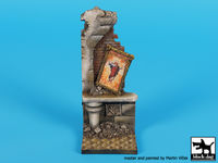 Ruined house with painting base (50x50mm) - Image 1