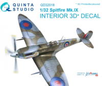Spitfire Mk.IX 3D-Printed & coloured Interior on decal paper
