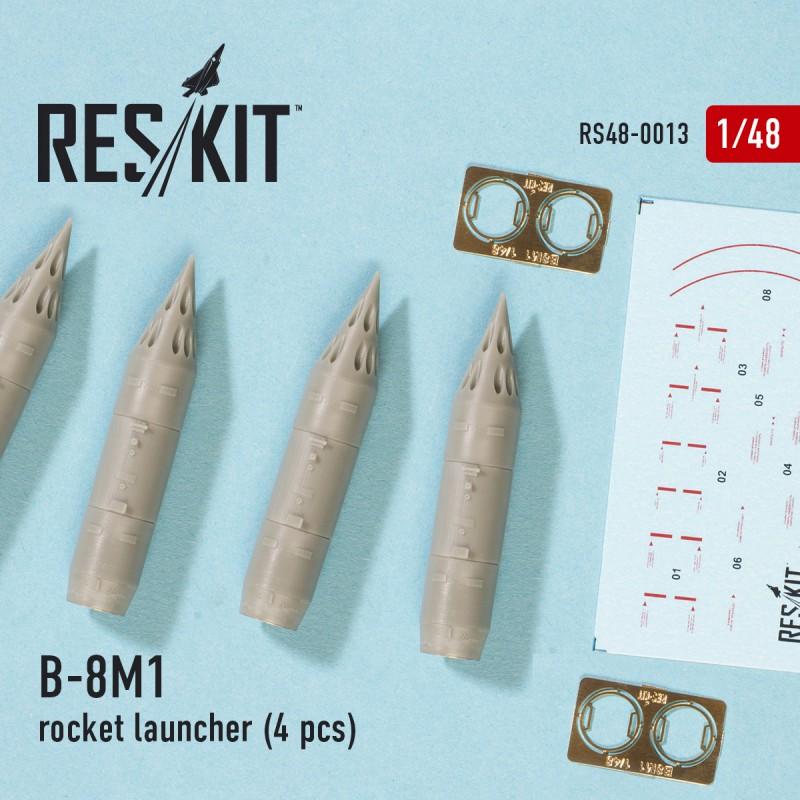 1//48 B-8M1 Rocket Launchers for Mig-23//27//29//Su-17//20//22//24//25//27//33//Jak-38