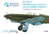 Yak-1 (early production) vacuformed clear canopy - Image 1
