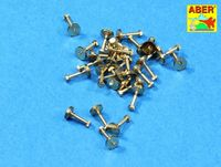 Turned imitation of Hexagonal bolts 1,55mm x 30pcs. - Image 1