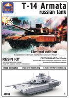 T-14 Armata Russian Tank with resin kit limited edition