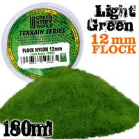 Static Grass Flock 12mm - Light Green - 180 ml - Image 1