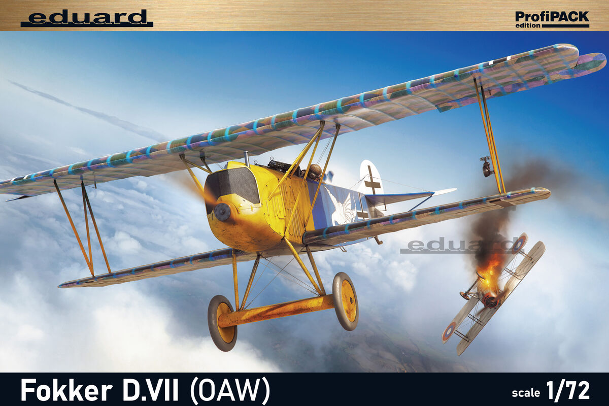 Eduard 1//72 Modèle Kit 70131 Fokker D Profipack OAW VII