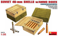 Soviet 45-mm Shells with ammo boxes