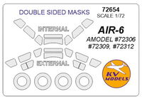 AIR-6  (AMODEL)  - Double sided + wheels masks