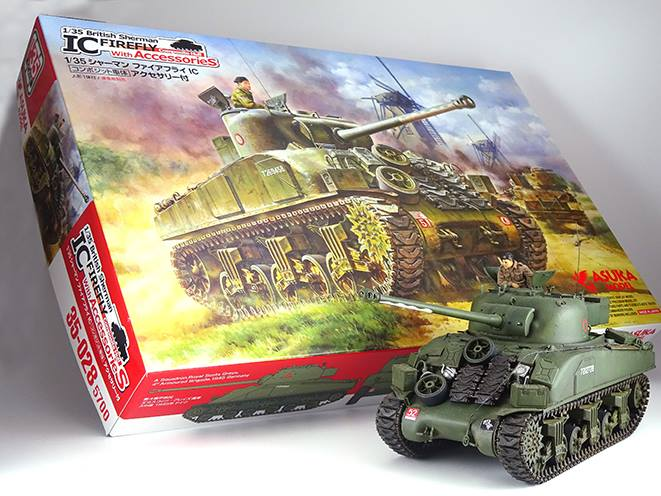 British Sherman FIREFLY IC conmposite hull with Accessories - Image 1
