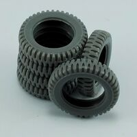 Spare tires for Jeep Willys for Tamiya
