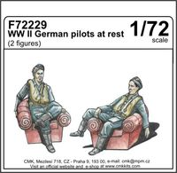 WW II German pilots at rest (2 fig) 1/72 - Image 1