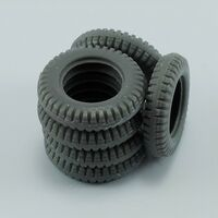 Spare tires for Schwimmwagen Type166 for Tamiya