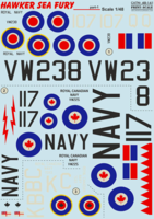 Hawker Sea Fury Part 1  The complete set 1,5 leaf - Image 1