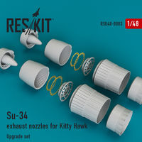 Su-34 exhaust nozzles for Kitty Hawk - Image 1
