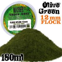 Static Grass Flock 12mm - Olive Green - 180 ml - Image 1