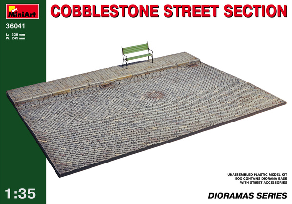 Cobblestone street section - Image 1