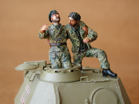 German Tank Crew-France 1944 - Image 1