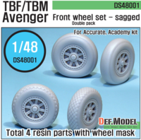 TBF/TBM Avenger Sagged Wheel set (for A.M. 1/48) - Image 1