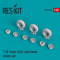 T-28 Trojan (A,B) Land based wheels set