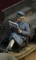 WWII British WAAF girl reading a newspaper - Image 1