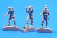 German A4/V2 missile launch platform personnel, WW II (3 figures)
