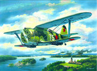 "I-153 ""Chaika"" WWII Soviet Biplane Fighter"