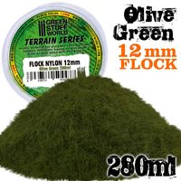 Static Grass Flock 12mm - Olive Green - 280 ml - Image 1