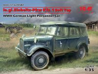 le.gl.Einheitz-Pkw Kfz.1 Soft Top, WWII German Light Personnel Car