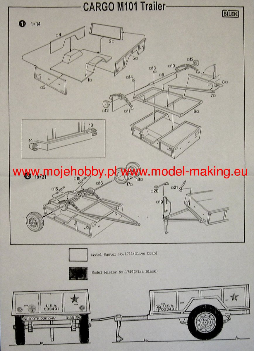 M101 Trailer Drawings Wiring Diagram Cargo Bilek 868x1200