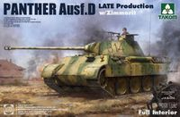 Panther Ausf. D Late Production w/ Zimmerit Full Interior Kit