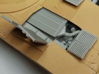 M1A2 Abrams engine filter for Tamiya