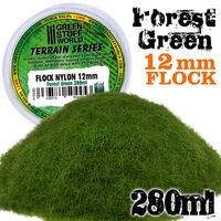 Static Grass Flock 12mm - Forest Green - 280 ml - Image 1