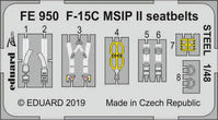 F-15C MSIP II seatbelts STEEL GREAT WALL HOBBY