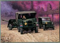 Morris C8 MK-II Truck with 17 Pounder Gun and Willys Jeep