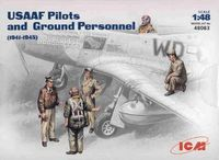 USAAF Pilots and Ground Crew WW2 - Image 1