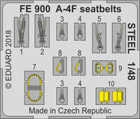 A-4F seatbelts STEEL  HOBBY BOSS