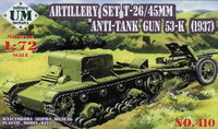 Artillery Set T-26/45mm, anti-tank gun  53-K (1937)