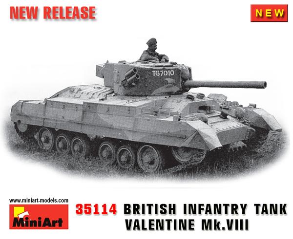 35114 Infantry Tank British viii Valentine Miniart Mk Ajq543RL