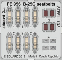 B-25G seatbelts STEEL ITALERI