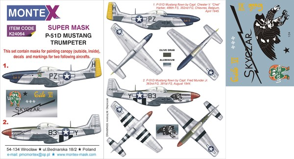 P-51D MUSTANG TRUMPETER Montex K24064