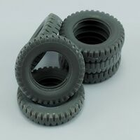 Sapare tires for German 3ton 4X2 Truck for Tamiya