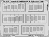 Template oblongs & square STEEL tool