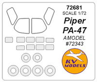 Piper Pa-47 (AMODEL) + wheels masks