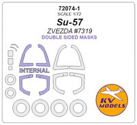 Su-57 (ZVEZDA) - (Double sided) + wheels masks - Image 1
