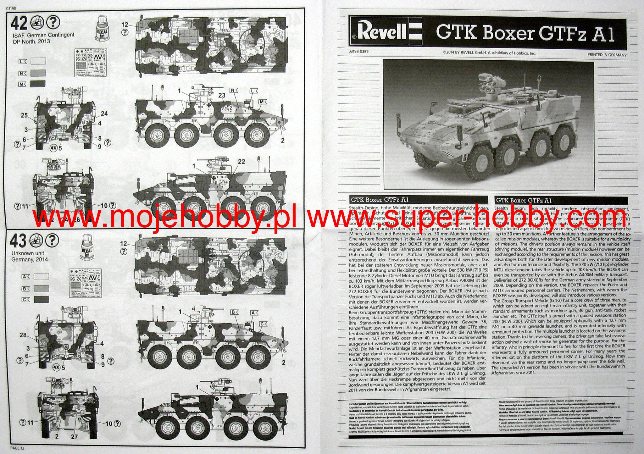03209 Escala 1:72 Maqueta GTK Boxer F/üFz A1 Revell