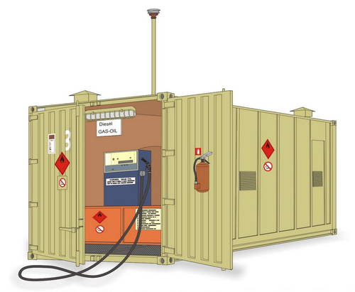 Gas Station Container - Full resin kit - Image 1
