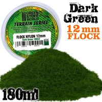 Static Grass Flock 12mm - Dark Green - 180 ml - Image 1