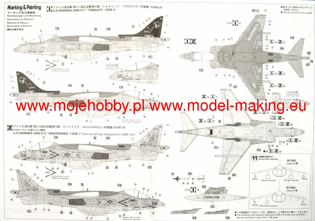Av 8b Diagram Engine Wire Diagrams Harrier Ii Night Attack Hasegawa Pt34 Vma 223 2 Haspt34 3