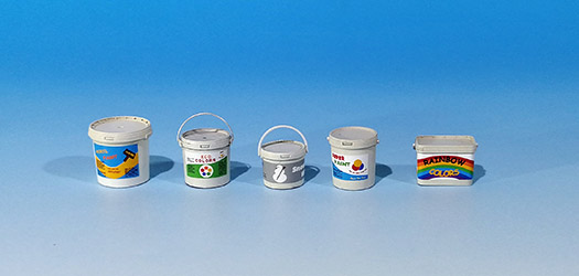 Plastic containers for paint - Image 1