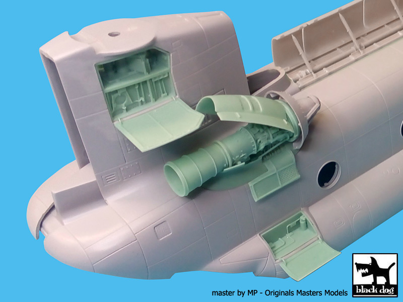 CH-47 Chinook engine for Italeri - Image 1