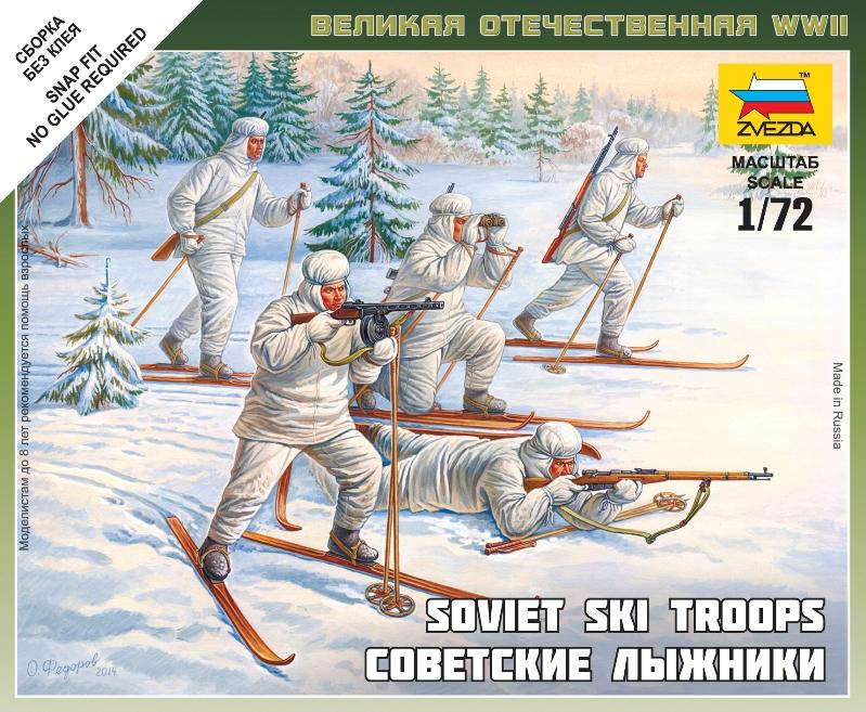 Zvezda 6199 Soviet Skiers 1:72 Scale Kit