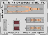 P-51D seatbelts STEEL  REVELL - Image 1
